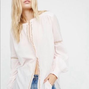 Free People Shimmers and Stripes Buttondown